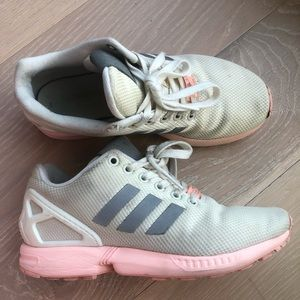 Adidas Torsion white-grey-peach sneakers